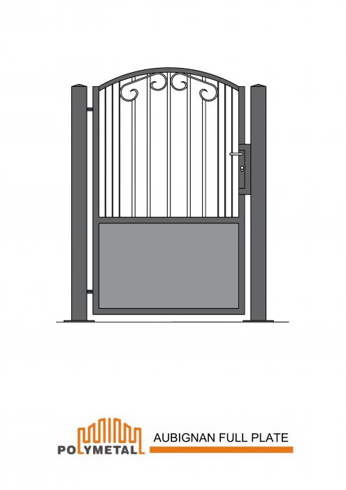 SINGLE GATE AUBIGNAN FULL PLATE