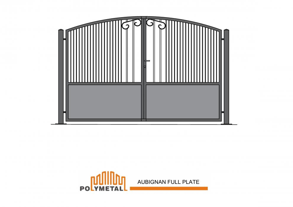DOUBLE GATE AUBIGNAN FULL PLATE