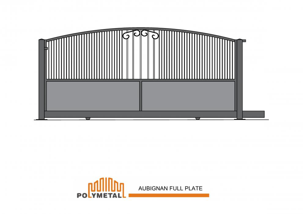 SLIDING GATE AUBIGNAN FULL PLATE
