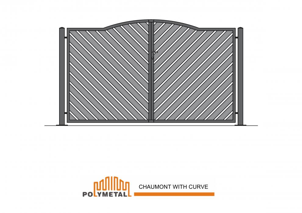 DOUBLE GATE CHAUMONT WITH CURVE