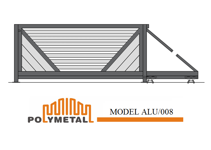 CANTILEVER GATE MODEL ALU/008