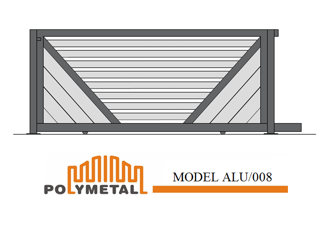 SLIDING GATE MODEL ALU/008