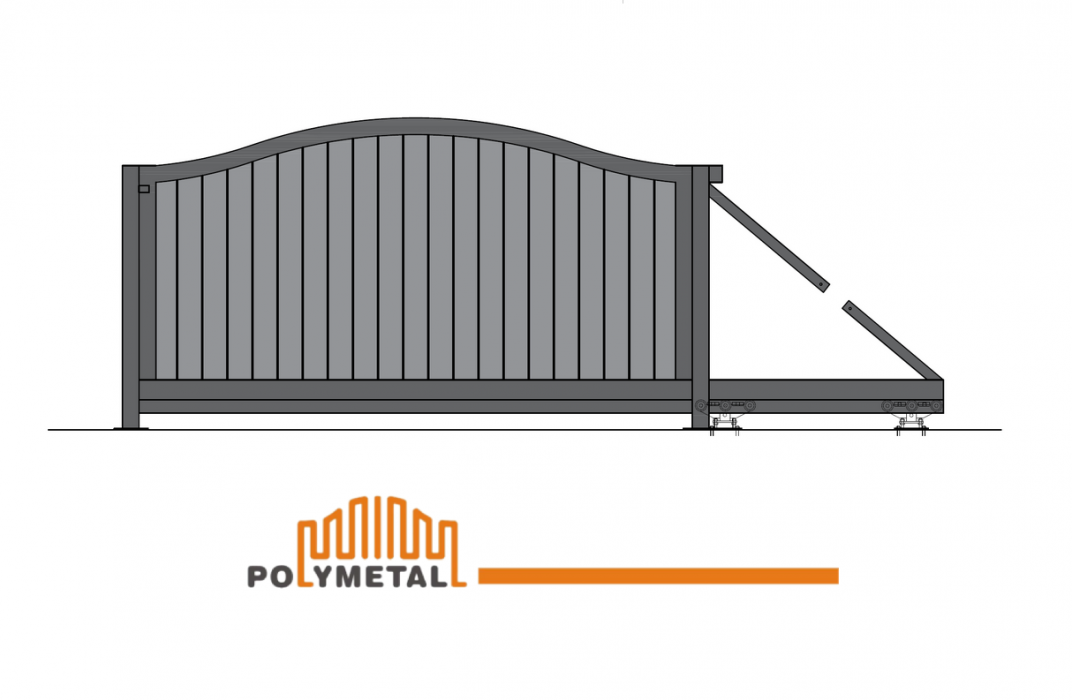 CANTILEVER GATE ORANGE CLOSED BOW