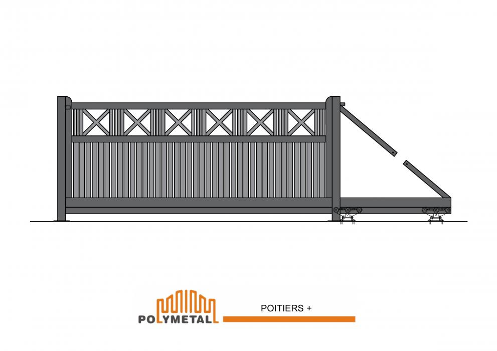 CANTILEVER GATE POITIERS +