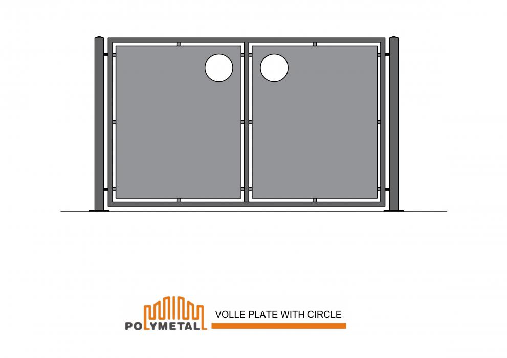 FENCE VOLLE PLATE WITH CIRCLE