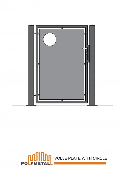 SINGLE GATE VOLLE PLATE WITH CIRCLE