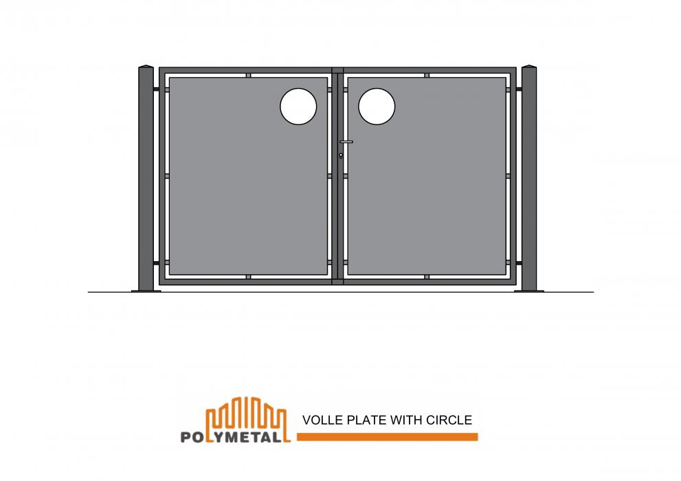 DOUBLE GATE VOLLE PLATE WITH CIRCLE