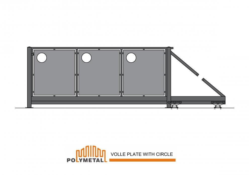 CANTILEVER GATE VOLLE PLATE WITH CIRCLE