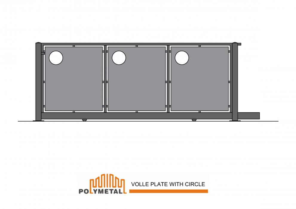 SLIDING GATE VOLLE PLATE WITH CIRCLE